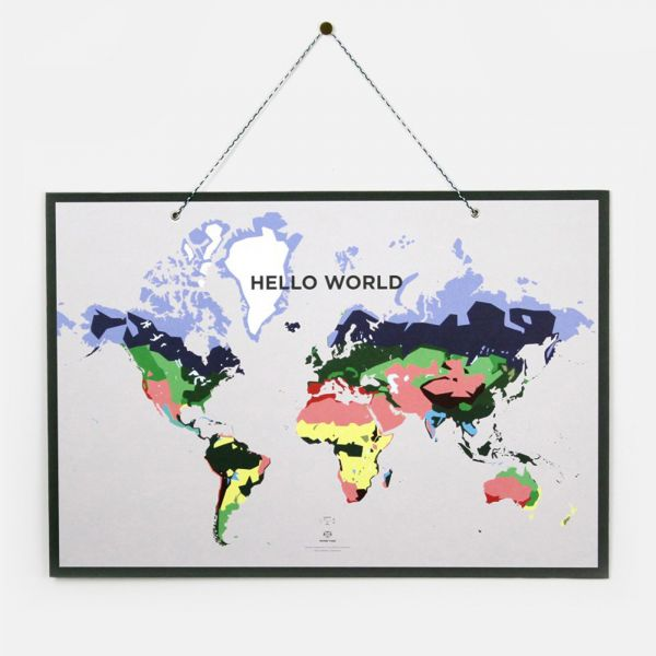 PAPIER TIGRE-環保再生紙板地圖 WORLD MAP 法國,原木,聯名款,藝術,繽紛,環保,幾何,文具,PAPIER TIGRE