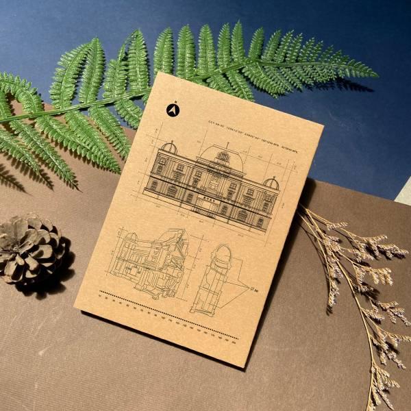 寫實文學館 - 手工線膠裝筆記本 米色道林紙,全開頁,筆記本,裸背線膠裝,日記,手帳