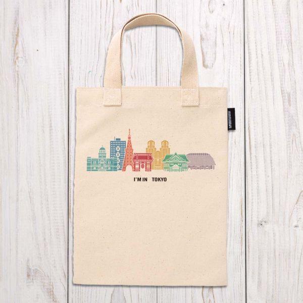 東京系列 - 東京建築(彩色) - 手提袋 臺南,合成帆布,手提袋,布包,UV印刷,原印臺南,HAND BAG,日本,東京,古蹟,建築