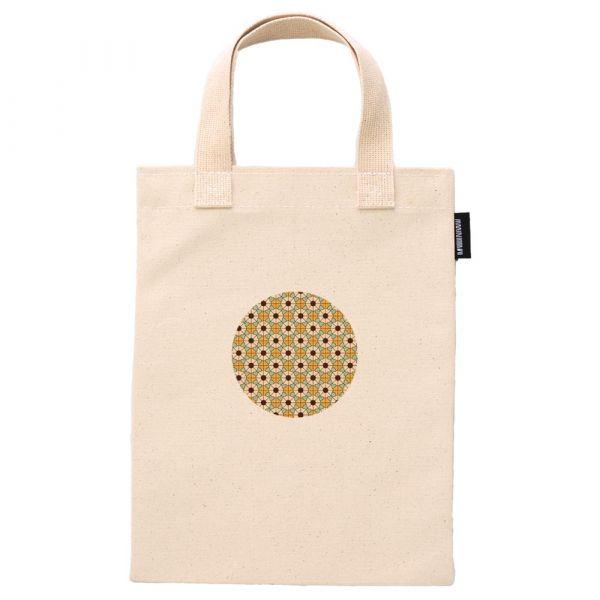 花磚鑲嵌系列 - 指定花色01 - 合成帆布手提袋 臺南,合成帆布,手提袋,布包,UV印刷,原印臺南,HAND BAG,花磚