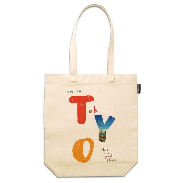 東京系列 - 東京好地方 - 合成帆布托特包 臺南,合成帆布,托特包,小內袋,布包,UV印刷,原印臺南,TOTE BAG,日本,東京,英文字