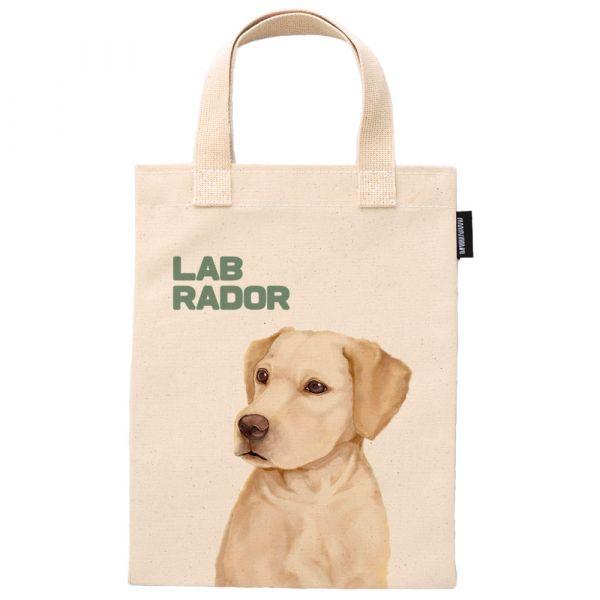 拉布拉多 - 合成帆布手提袋 臺南,合成帆布,手提袋,寵物,狗派,貓派,布包,UV印刷,原印臺南,動物,ZIP FLAT POUCHE,拉布拉多
