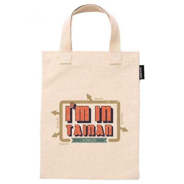 台南文字意象系列 合成帆布12盎司重磅手提袋 臺南,合成帆布,手提袋,我在台南,復古刷色文字