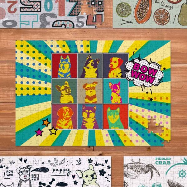 | POP跳色寵物款 |  300片精緻印刷拼圖 UV印刷,拼圖,紙製品,遊戲,益智玩具,生日禮物,聖誕禮物,祝賀禮物,結婚禮物,節慶禮物,交換禮物,伴手禮,禮贈品,紀念品,情人節,母親節,父親節,兒童節,台南,台灣,文創,動物,狗,寵物