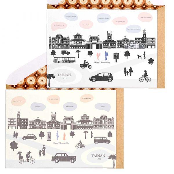 古今臺南款卡片 卡片,羊毛紙,萬用卡,臺南,建築古蹟