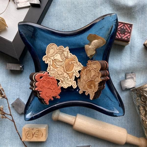 客製化 - 原木印章 客製化,UV印刷,單件客製化,個人化禮物,英文名牌,磁鐵