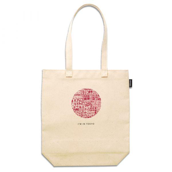 東京系列 - 東京文字拼貼 - 合成帆布托特包 臺南,合成帆布,托特包,小內袋,布包,UV印刷,原印臺南,TOTE BAG,日本,東京,文字拼貼