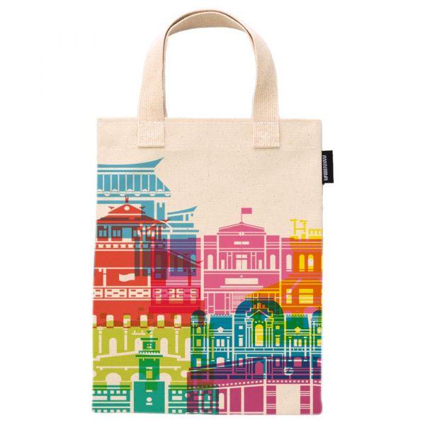 臺南建築(彩色) - 合成帆布手提袋 臺南,合成帆布,手提袋,布包,UV印刷,原印臺南,HAND BAG,建築,古蹟