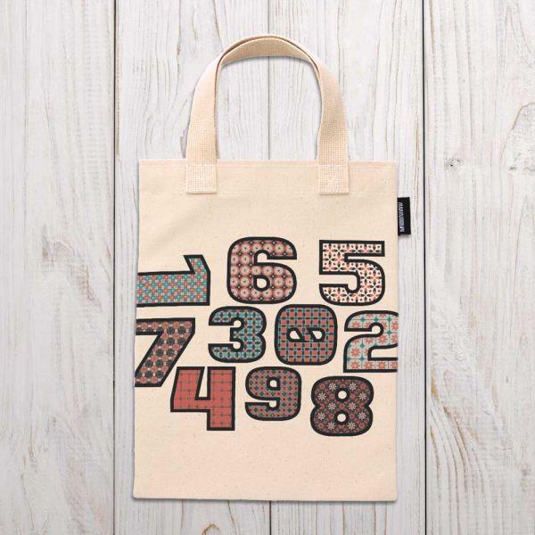 數字花磚 - 合成帆布手提袋 臺南,合成帆布,手提袋,布包,UV印刷,原印臺南,HAND BAG,花磚,數字