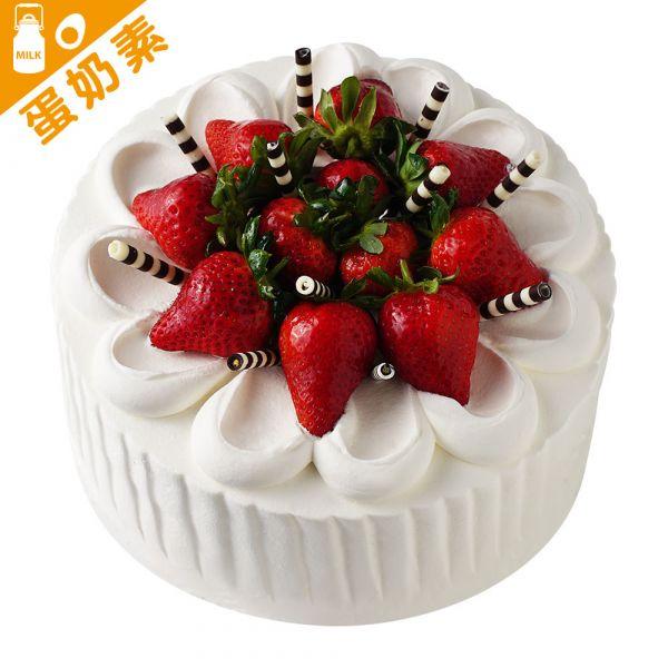 鮮草莓 6-18吋(季節限定) 蛋糕、生日蛋糕、生日、好吃蛋糕、蛋奶素、基隆蛋糕、草莓蛋糕