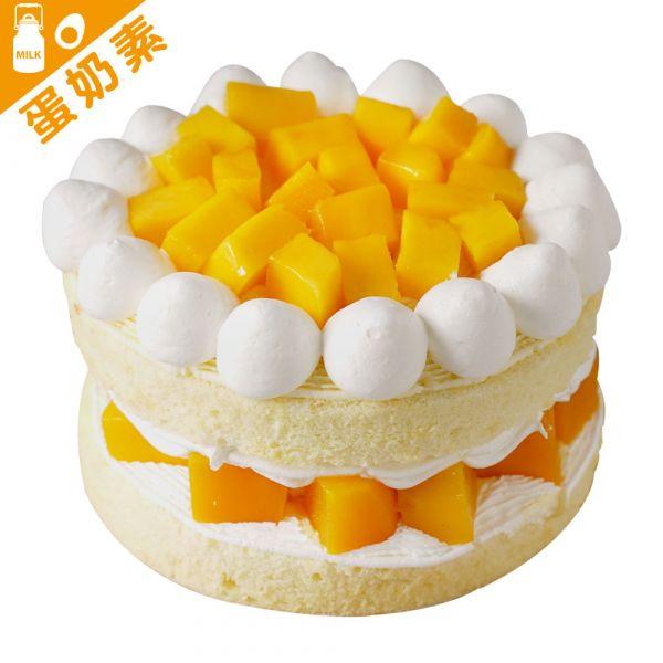 芒果裸蛋糕6-8吋 台灣愛文芒果、蛋糕、台灣芒果、愛文、愛文芒果、芒果奶烙、芒果口味