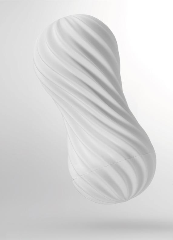 日本TENGA-MOOVA 軟殼螺旋自慰杯 絲柔白