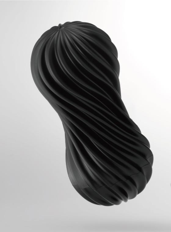 日本TENGA-MOOVA 軟殼螺旋自慰杯 搖滾黑