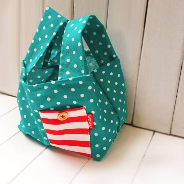 半斤購物袋 (湖水綠點) 接單生產* 半斤袋,環保袋,購物袋, ShoppingBag, エコバッグ
