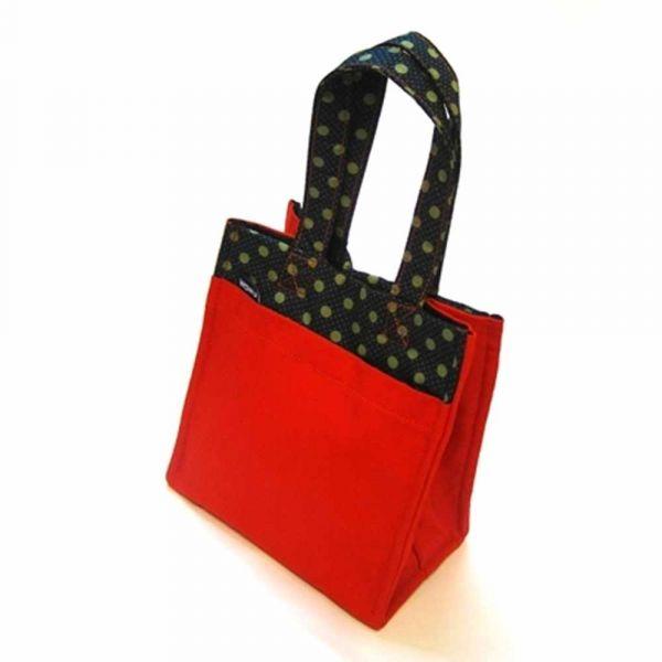 早午餐袋, 提點包 (鼓紅帆布) 半斤袋,環保袋,購物袋, ShoppingBag, エコバッグ