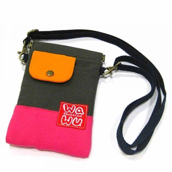 褲頭包 (灰熊桃) 手機袋,phonebag,携帯カバー,手機包,隨身小包,手工包,包包,Purses,かばん,カバン,鞄,手作包,布包 ,handmadebag,バッグ,ポーチ,布小物,布小物雑貨