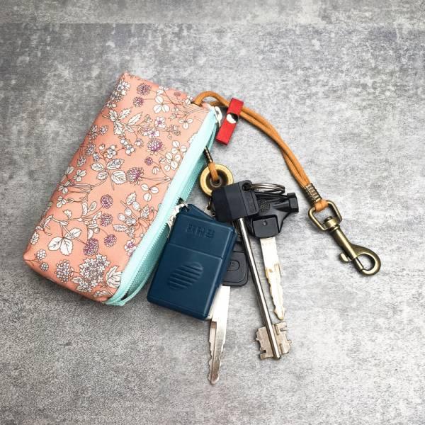 拉鍊鑰匙包 (本草綱目 - 粉) 接單生產* 鑰匙包,keyholder,鑰匙收納,キーケース,kyecase,隨身小包,客製化