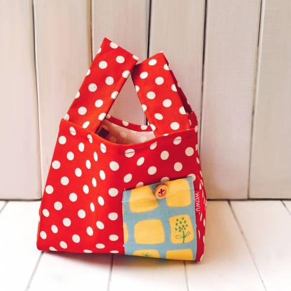半斤購物袋 (紅點點) 接單生產* 半斤袋,環保袋,購物袋, ShoppingBag, エコバッグ