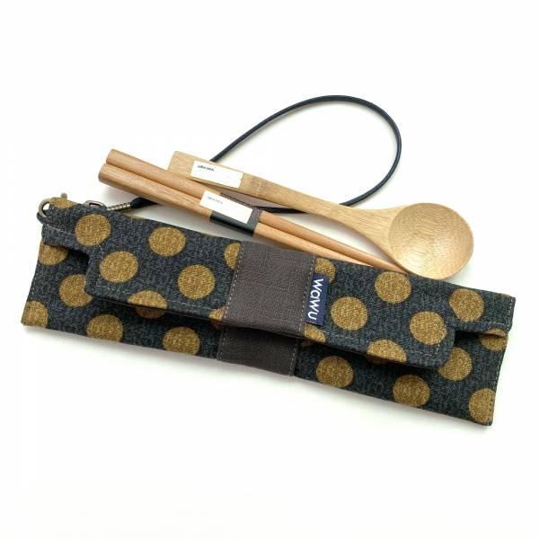 筆袋/筷套 (日和丸) (附木製筷子和湯匙) 接單生產* 筆袋,餐具袋,,chopsticks,箸,箸袋
