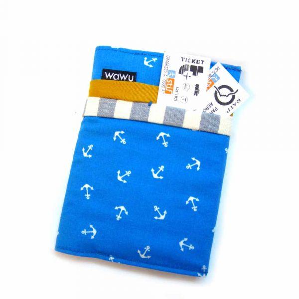 護照套 (海軍風)  接單生產* 護照套,passportcase,パスポートケース