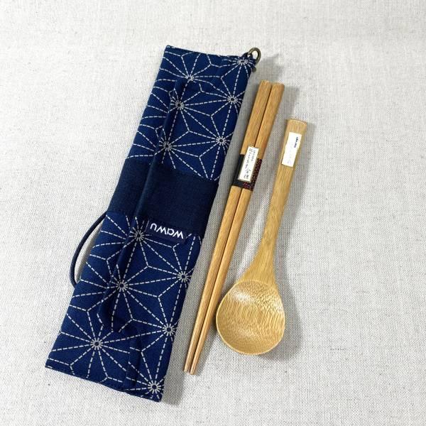 筆袋/筷套 (葉柄) (附木製筷子和湯匙) 接單生產* 筆袋,餐具袋,,chopsticks,箸,箸袋