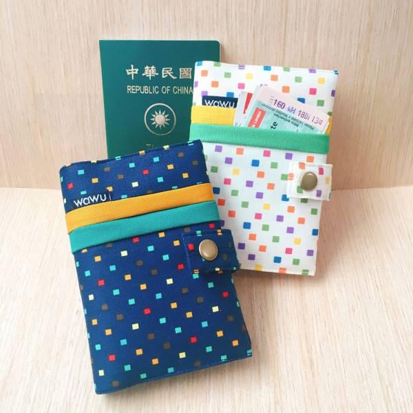 護照套+扣帶 (繽紛小方格 / 一對)  接單生產* 護照套,passportcase,パスポートケース