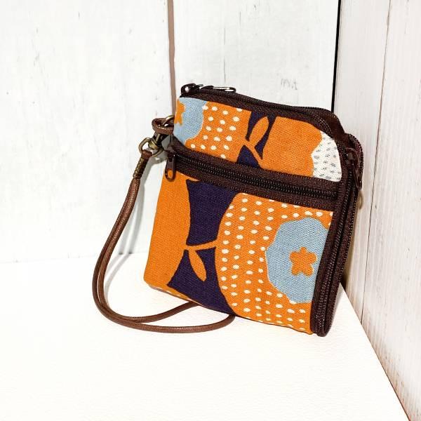 夾心短夾 (幾何橘) (附繩) 接單生產* Wallet,カード,お釣り入れ,小銭入れ,細かい入れ,二つ折り財布,卡片包,夾心吐司包,財布,錢包,錢夾