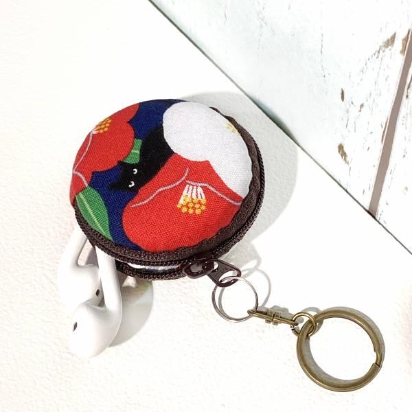 馬卡龍拉鍊鑰匙圈 (朵朵貓 - 紺藍色) 接單生產* Wallet,カード,お釣り入れ,小銭入れ,細かい入れ,財布,錢包,馬卡龍,小廢包