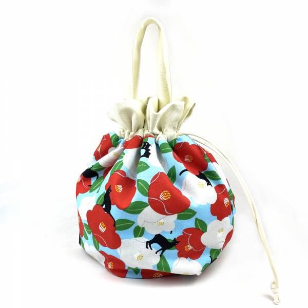 巾着袋, 束口手提袋 (朵朵貓 - 空藍色) *接單生產 便當袋,lunchbag,束口袋,巾着袋,drawstring