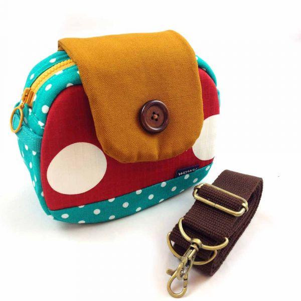 相機堡包 (香菇公園) 日本布 相機包,隨身小包,類單眼相機包,數位相機包,即可拍,斜背小包