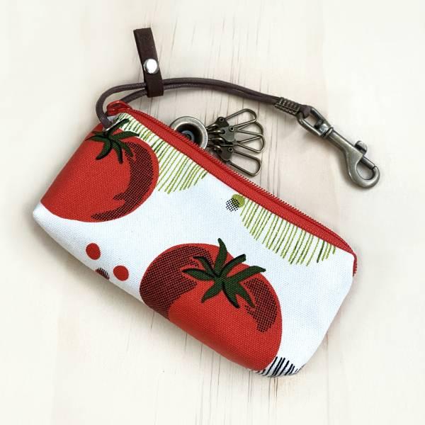 拉鍊鑰匙包 (番茄) 日本布 接單生產* 鑰匙包,keyholder,鑰匙收納,キーケース,kyecase,隨身小包,客製化