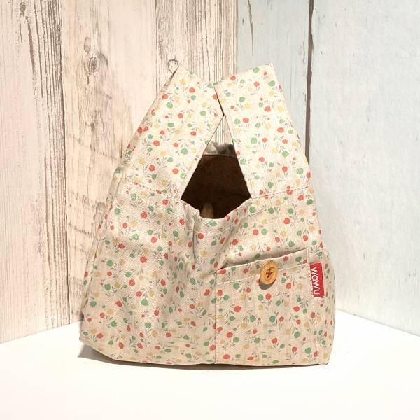 半斤購物袋 (米白小花/雙面布) 日布限量訂製款* 半斤袋,環保袋,購物袋, ShoppingBag, エコバッグ