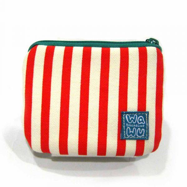 小零錢包 (紅白條紋) 接單生產* 小零錢包,隨身小包,錢包,零錢包,小包,專屬名字錢包,卡片包