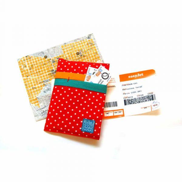 護照套 (紅色點點)  接單生產* 護照套,passportcase,パスポートケース