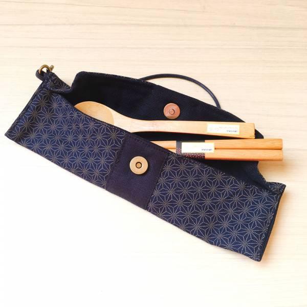 筆袋/筷套 (小葉柄) (附木製筷子和湯匙) 接單生產* 筆袋,餐具袋,,chopsticks,箸,箸袋