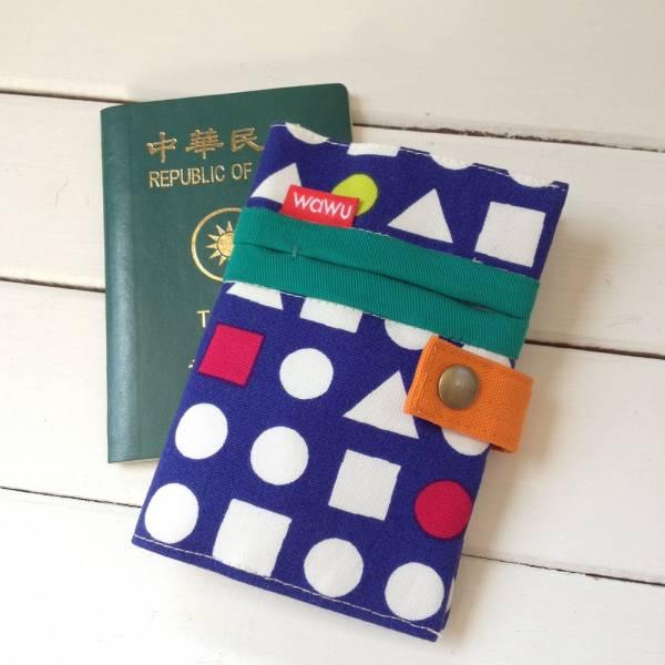 護照套 (日布幾何藍)  接單生產* 護照套,passportcase,パスポートケース