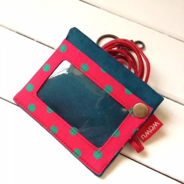 三用證件零錢套 (藍莓果) 接單生產* 證件套,識別證套,卡套,ID卡套,悠遊卡套,證件零錢套