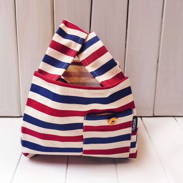 半斤購物袋 (條紋) 接單生產* 半斤袋,環保袋,購物袋, ShoppingBag, エコバッグ