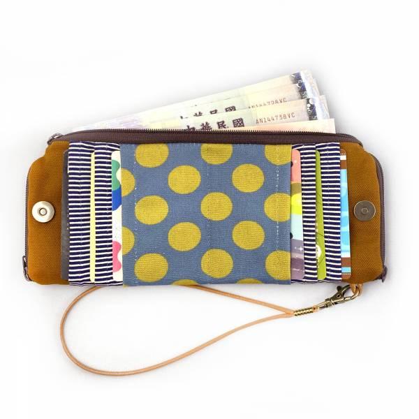 夾心短夾 (駝色帆布) (附繩) 接單生產* Wallet,カード,お釣り入れ,小銭入れ,細かい入れ,二つ折り財布,卡片包,夾心吐司包,財布,錢包,錢夾