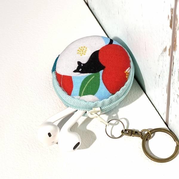 馬卡龍拉鍊鑰匙圈 (朵朵貓 - 空藍色) 接單生產* Wallet,カード,お釣り入れ,小銭入れ,細かい入れ,財布,錢包,馬卡龍,小廢包