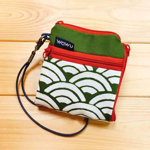 夾心短夾 (海松色青海波) (附繩) 接單生產* Wallet,カード,お釣り入れ,小銭入れ,細かい入れ,二つ折り財布,卡片包,夾心吐司包,財布,錢包,錢夾