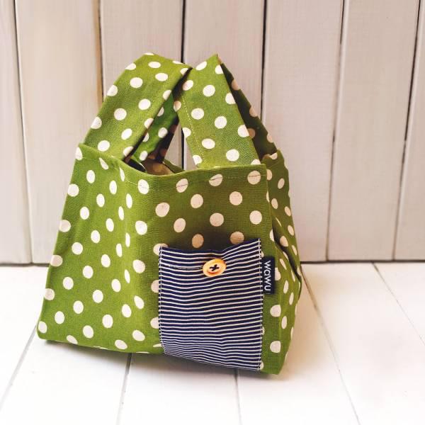 半斤購物袋 (草綠點) 接單生產* 半斤袋,環保袋,購物袋, ShoppingBag, エコバッグ