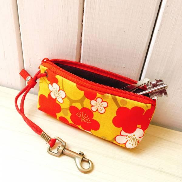 拉鍊鑰匙包 (櫻) 日本布 接單生產* 鑰匙包,keyholder,鑰匙收納,キーケース,kyecase,隨身小包,客製化