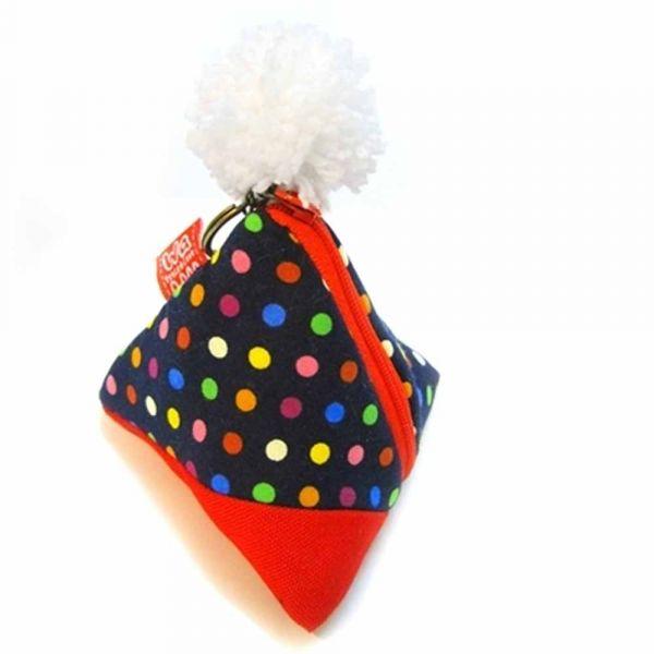 包粽包 (繽紛藍點) 小零錢包,錢包,零錢包,小包,三角包,粽子,包粽,粽,ちまき,zongzi,ricedumpling