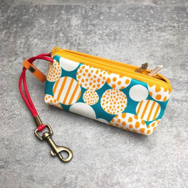拉鍊鑰匙包 (繽紛氣泡) 日本布 接單生產* 鑰匙包,keyholder,鑰匙收納,キーケース,kyecase,隨身小包,客製化