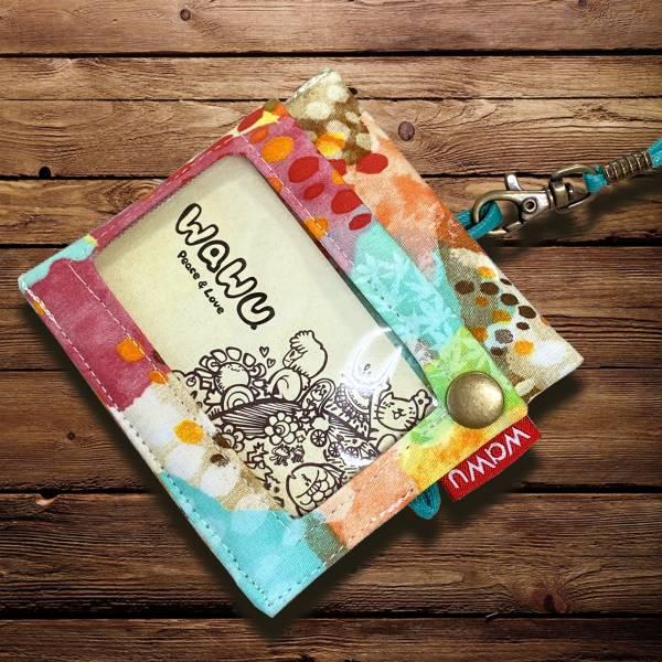 三用證件零錢套 (宇宙森林) (附繩) 接單生產* 證件套,識別證套,卡套,ID卡套,悠遊卡套,證件零錢套