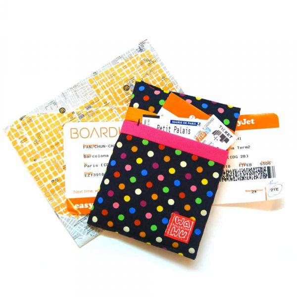 護照套 (繽紛藍點)  接單生產* 護照套,passportcase,パスポートケース