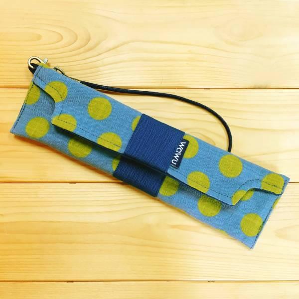 筆袋/筷套 (圓餅) (附木製筷子和湯匙) 接單生產* 筆袋,餐具袋,,chopsticks,箸,箸袋