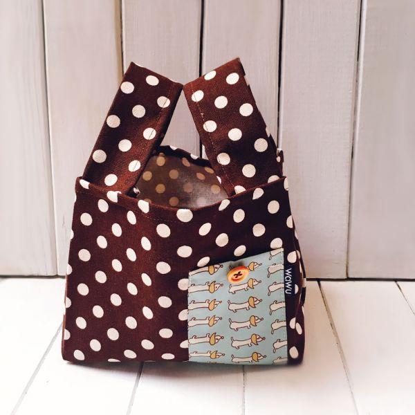 半斤購物袋 (咖啡臘腸狗) 接單生產* 半斤袋,環保袋,購物袋, ShoppingBag, エコバッグ