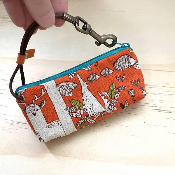 拉鍊鑰匙包 (動物森林-橘) 日本布 接單生產* 鑰匙包,keyholder,鑰匙收納,キーケース,kyecase,隨身小包,客製化